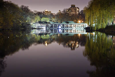 Boathouse Photograph - Boathouse Reflection by Mike Lang