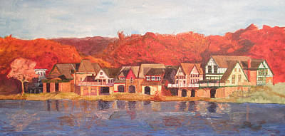 Painting - Boathouse Row by Andrew Hench