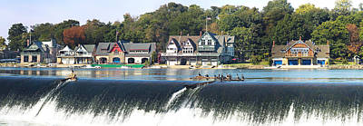 Boathouse Photograph - Boathouse Row At The Waterfront by Panoramic Images