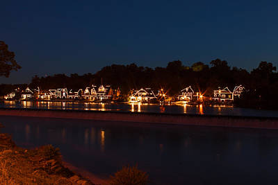 Photograph - Boathouse Row Before Dawn by Michael Porchik