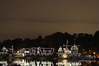 Art Print featuring the photograph Boathouse Row by Christopher Woods