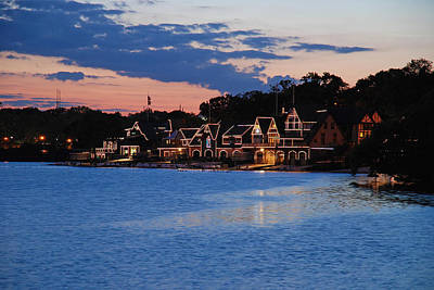 Photograph - Boathouse Row Dusk by Jennifer Ancker