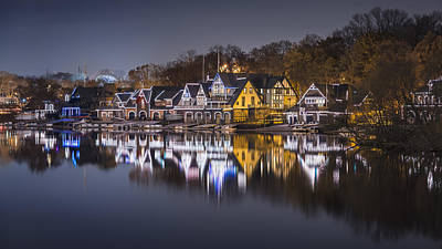 Boathouse Row Art Print by Eduard Moldoveanu