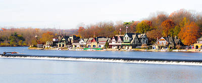 Phillies Digital Art - Boathouse Row In Autumn by Bill Cannon
