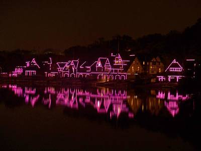 Photograph - Boathouse Row In Pink by Ed Sweeney