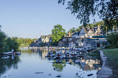 Boathouse Row In September Art Print