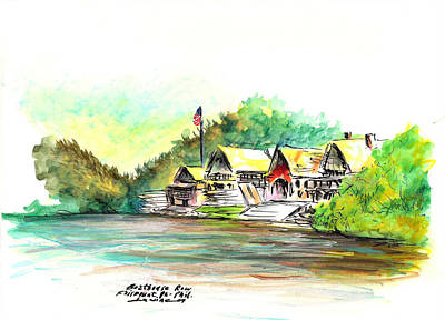 Boathouse Row Art Print by Joseph Levine