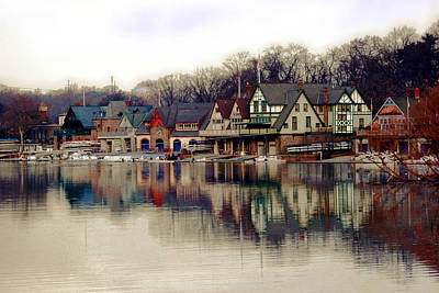 Scenic River Photograph - Boathouse Row Philadelphia by Tom Gari Gallery-Three-Photography