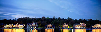 Boathouse Photograph - Boathouse Row Philadelphia Pennsylvania by Panoramic Images