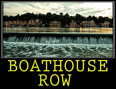 Boathouse Row Poster Print by Bill Cannon
