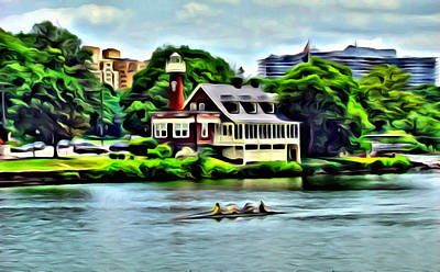 Photograph - Boathouse Rowers On The Row by Alice Gipson