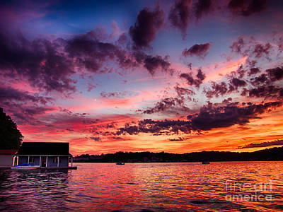 Photograph - Boathouse Sunset by Mark Miller