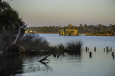 Digital Art - Boathouse Sunset  by Michael Thomas