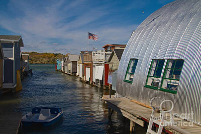 Photograph - Boathouse by William Norton