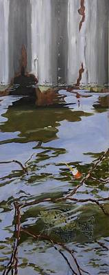 Sports Paintings - Crappie Fish C by Michael Dillon