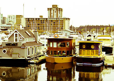 Art Print featuring the photograph Boathouses by Eti Reid