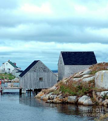 Boathouses Art Print by Kathleen Struckle