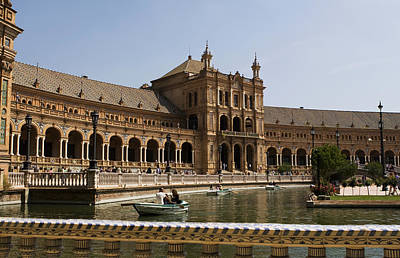 Photograph - Boating At The Plaza De Espana In The Maria Luisa Park by Lorraine Devon Wilke