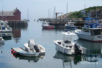 Art Print featuring the photograph Boats On The Water by Eunice Miller