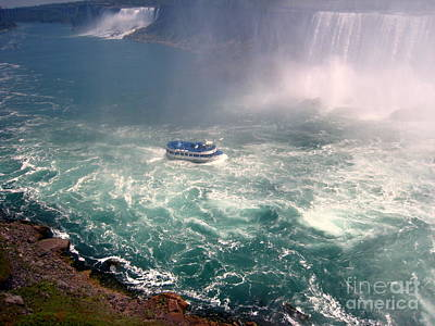Photograph - Boating Down Niagara  by Jennifer E Doll