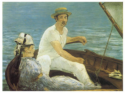 Boating Art Print by Edouard Manet