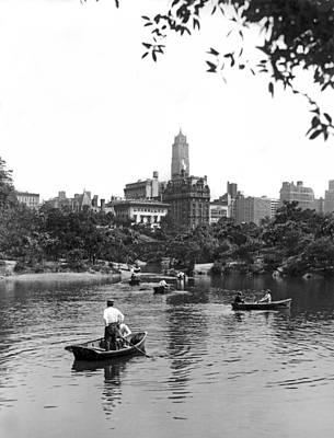 Boating In Central Park Art Print