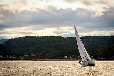 Boating In Tadoussac Art Print