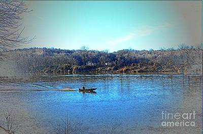 Boating On The Cumberland Art Print by Kathleen Struckle