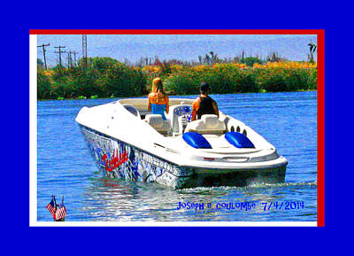 Photograph - Boating On The Fourth Of July by Joseph Coulombe