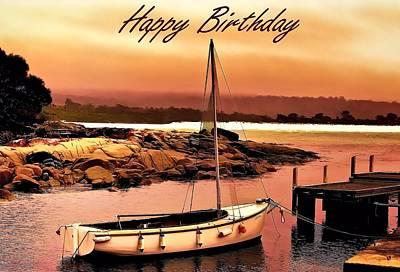 Photograph - Boating Sailing Birthday Greeting Card by Wallaroo Images