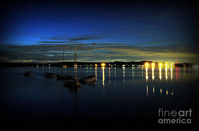 Boating - The Marina At Night Art Print by Paul Ward