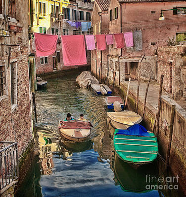 Photograph - Boating Through Laundry by Diane Enright