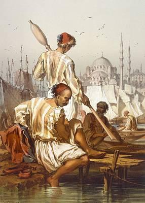 Boatmen, 1865 Print by Amadeo Preziosi