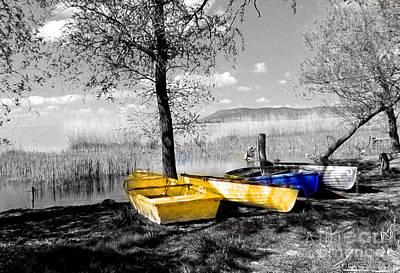 Photograph - Boats At Lake Balaton by Alexa Szlavics