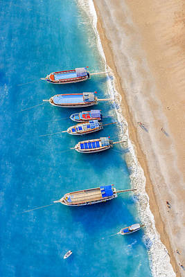 Photograph - Boats by Ali Kabas