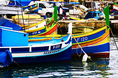 Photograph - Boats Alone by Rick Bragan