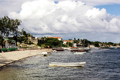Dhow Photograph - Boats Anchored At Beach, Ibo Island by Danita Delimont
