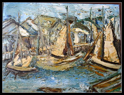 Painting - Boats And Boats by Anand Swaroop Manchiraju