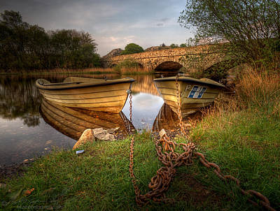 Photograph - Boats And Chains by Beverly Cash