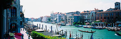 Boats And Gondolas In A Canal, Grand Art Print
