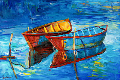 Boats And Sea Art Print by Ivailo Nikolov