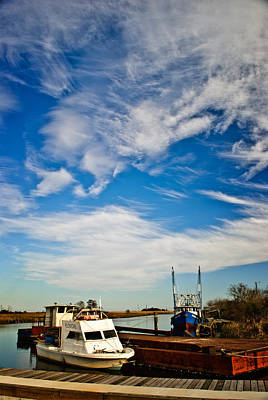 Photograph - Boats And Sky Color by George Taylor