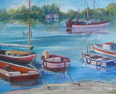 Painting - Boats by Anne Dentler