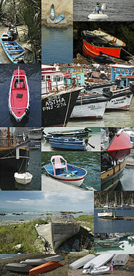 Boats Around The World Art Print by Helen Worley