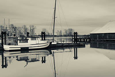 Britannia Photograph - Boats At A Harbor, Britannia by Panoramic Images