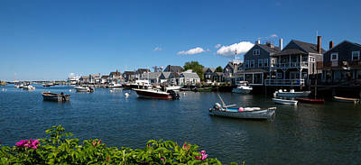 Massachusetts Photograph - Boats At A Harbor, Nantucket by Panoramic Images