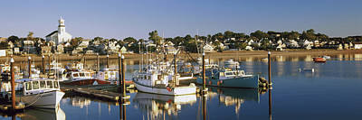 Cape Cod Photograph - Boats At A Harbor, Provincetown, Cape by Panoramic Images