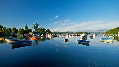 Art Print featuring the photograph Boats At Balmaha by Stephen Taylor