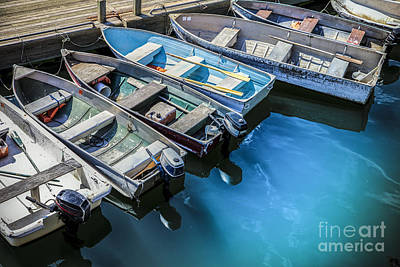 Rowboat Photograph - Boats At Bar Harbor Maine by Diane Diederich