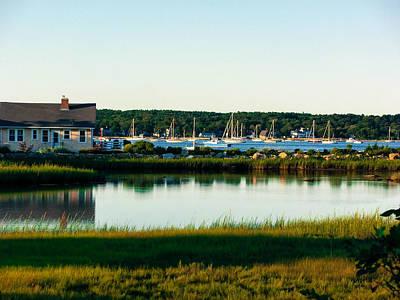 Photograph - Boats At Bay by Heather Sylvia
